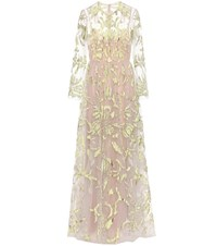 Valentino Embellished Tulle Gown Neutrals