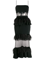David Koma Feather Trimmed Gown 60