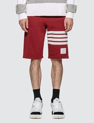 Thom Browne Classic 4 Bar Sweat Shorts Red