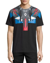 Marcelo Burlon Elephant Head Graphic Short Sleeve Tee Black
