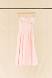 Urban Renewal Vintage Pink Lace Inset Strapless Dress Assorted