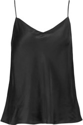 Yummie Tummie By Heather Thomson Silk Satin Camisole Black
