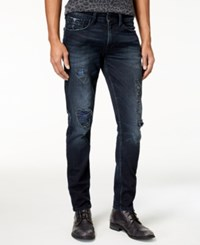 Guess Men's Slim Tapered Fit Stretch Destroyed Jeans Revolt Wash W Destroy