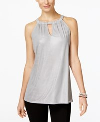 Inc International Concepts Keyhole Halter Top Only At Macy's Silver