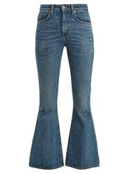 Brock Collection Belle Flared Cropped Jeans Blue