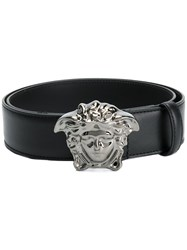 Versace Medusa Palazzo Belt Men Calf Leather 100 Black