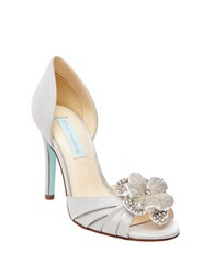 Betsey Johnson Emma Peep Toe Pumps Silver