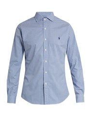 Polo Ralph Lauren Slim Fit Checked Cotton Shirt Navy Stripe