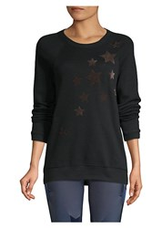 Ultracor Velvet Star Sweatshirt Nero Taupe