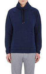 Barneys New York Men's Funnel Neck Rib Knit Pullover Sweater Blue Size