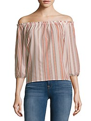 Sanctuary Striped Off The Shoulder Top Margaux