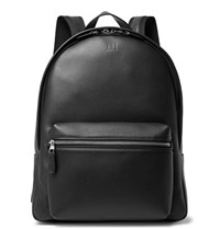 Dunhill Hampstead Canvas Panelled Leather Backpack Black