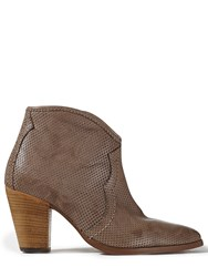 Jigsaw Cara Perforated Side Zip Boot Mink