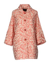 Atos Lombardini Overcoats Coral
