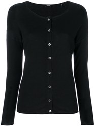 Aspesi Round Neck Cardigan Black