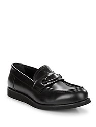 John Galliano Leather Loafers Black