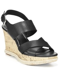 American Living Adrina Platform Wedge Sandals A Macy's Exclusive Style Black