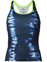 Monreal London Tie Dye Tank Top Blue