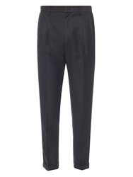 Wooyoungmi Pleat Front Slim Straight Leg Wool Trousers