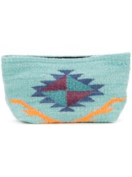 Manos Zapotecas Aztec Clutch Green