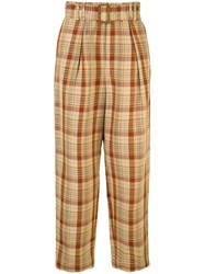 Tomorrowland Belted Waist Trousers Multicolour