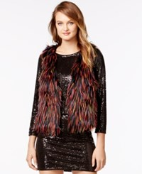 Kensie Faux Fur Multi Color Vest