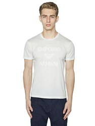 Emporio Armani Embroidered Logo Cotton Jersey T Shirt