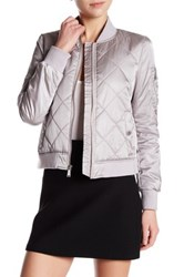 Bcbgeneration Quilted Bomber Jacket Metallic
