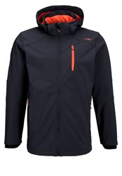 Cmp Soft Shell Jacket Nero Melange Black