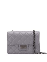 Designinverso Milano Quilted Shoulder Bag Grey