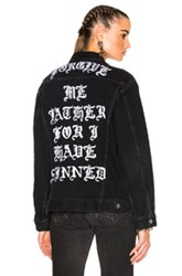 Adaptation X The Chain Gang Jean Jacket In Black