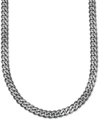 Esquire Men's Jewelry Wide Link 5 1 4Mm Curb Chain In Sterling Silver First At Macy's