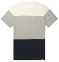 Norse Projects Niels Colour Block Cotton Jersey T Shirt Gray