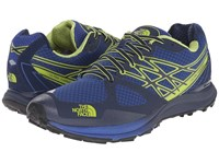 The North Face Ultra Cardiac Cosmic Blue Macaw Green Men's Running Shoes
