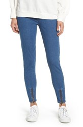Nordstrom Ankle Zip Denim Leggings Denim Blue