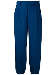 Marni Zip Cuff Trousers Women Viscose 44 Blue