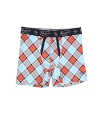 Original Penguin Fashion Boxer Brief Coral Plaid Men's Underwear Orange