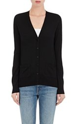 Proenza Schouler Women's Fine Gauge Knit V Neck Cardigan Black