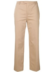 Red Valentino Cropped Tailored Trousers Neutrals