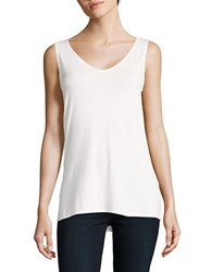 Context Sleeveless Hi Lo Top White