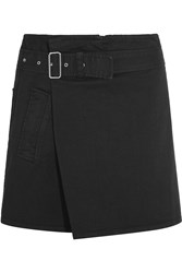 See By Chloe Denim Wrap Mini Skirt Black