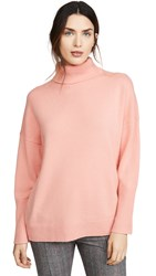 Chinti And Parker Relaxed Polo Cashmere Sweater Dusty Rose