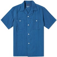 Blue Blue Japan Double Gauze Shirt Blue