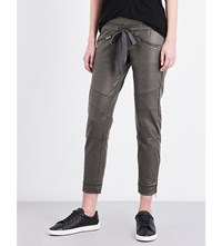 The Kooples Biker Stretch Jersey Jogging Bottoms Kak01
