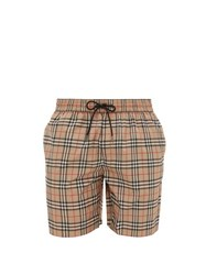 Burberry Guildes House Check Swim Shorts Beige Multi