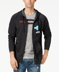 American Rag Men's Patch Hoodie Created For Macy's Charcoal Hthr