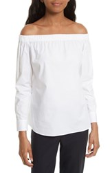 Boss Bagiana Off The Shoulder Blouse White