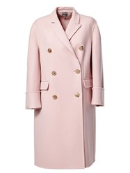 Alexander Mcqueen Double Breasted Coat Pink And Purple