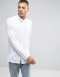 Lindbergh Long Sleeve Jersey Shirt In White White