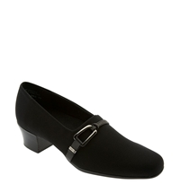 Munro American 'Cindi' Pump Black Stretch Fabric